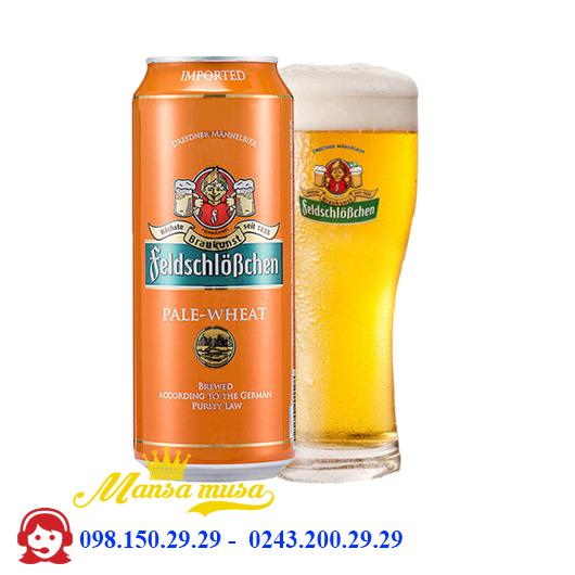 Bia Đức Feldschlösschen Pale Wheat 5% – chai 500ml