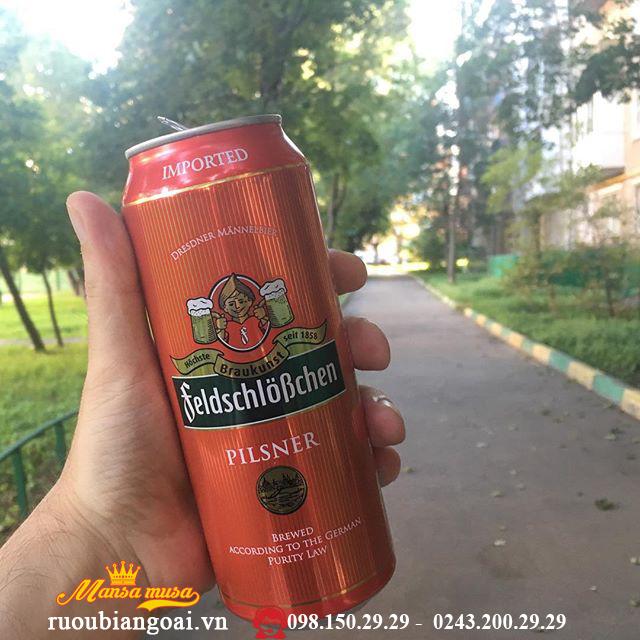Bia Đức Feldschlösschen Pilsner 4,9% - chai 500ml