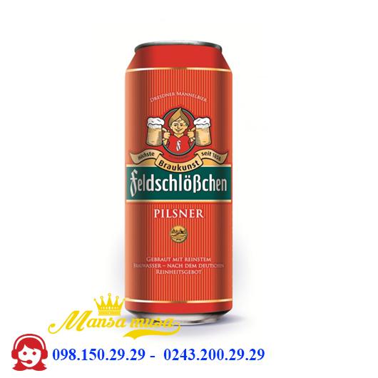 Bia Đức Feldschlösschen Pilsner 4,9% – chai 500ml