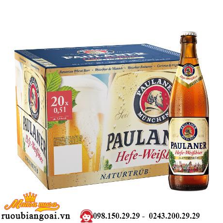 Bia Đức Paulaner hefe weissbier Naturtrub 5,5% chai 500ml