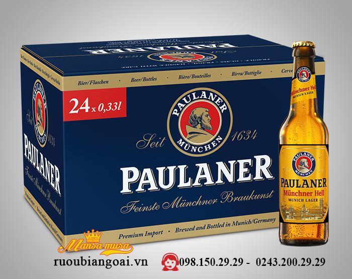 Bia Đức Paulaner Munchner Hell 4,9% – Chai 330ml