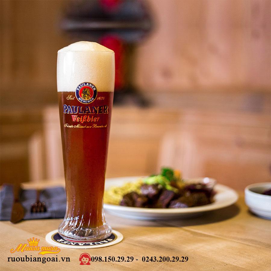 Bia Paulaner Hefe Weissbier Dunkel 5.3% – Chai 500ml