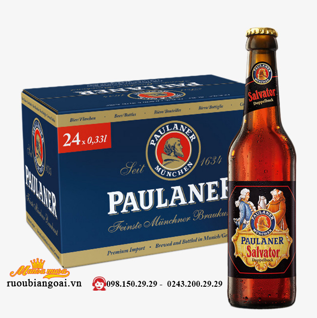 Bia Paulaner Salvator Double Bock 7,9% – Chai 330ml