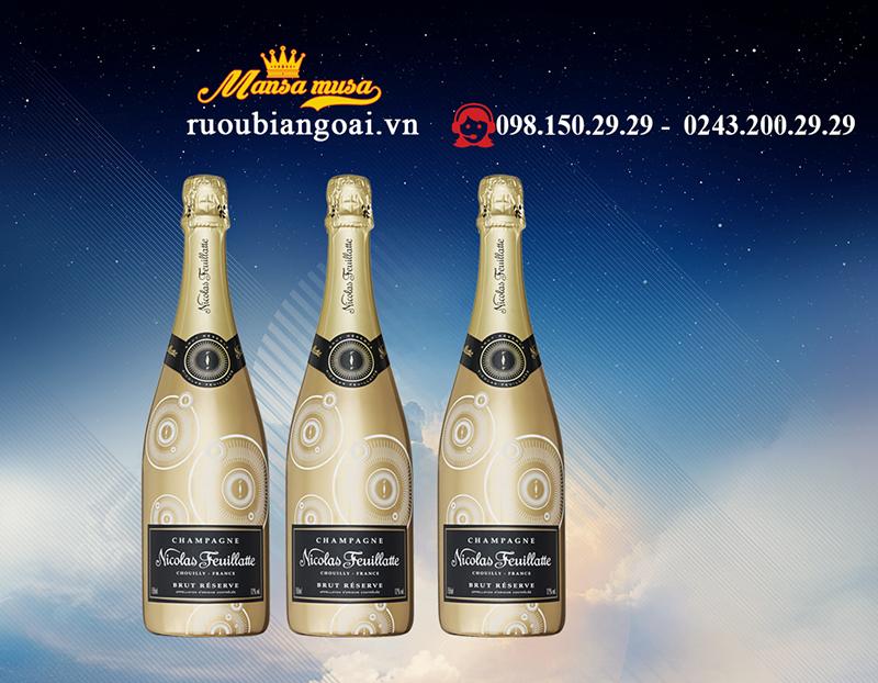 Rượu Champagne Nicolas Feuillatte Brut Réserve Gold Label