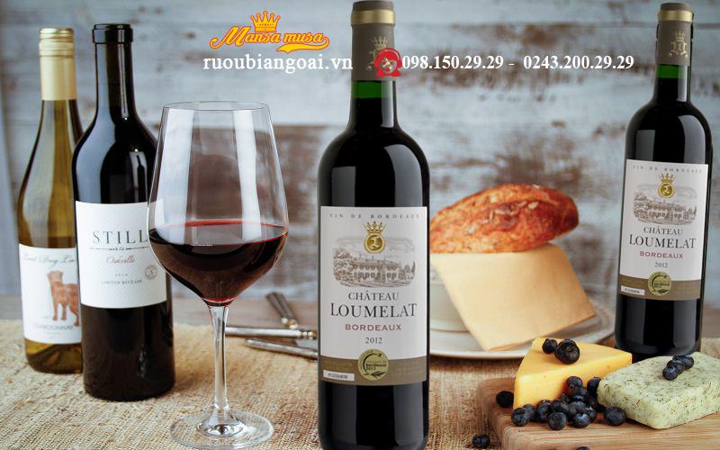 Rượu Vang Pháp Chateau Loumelat Bordeaux Red