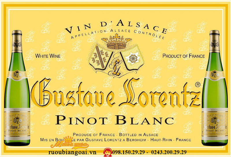 Vang Pháp Gustave Lorentz pinot Blanc Reserve