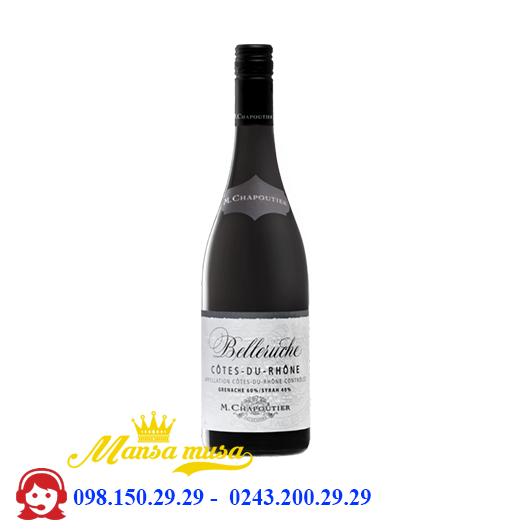 Vang Pháp M.Chapoutier Belleruche Cotes Du Rhone Red