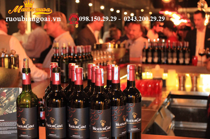 Rượu vang pháp Mouton Cadet Bordeaux