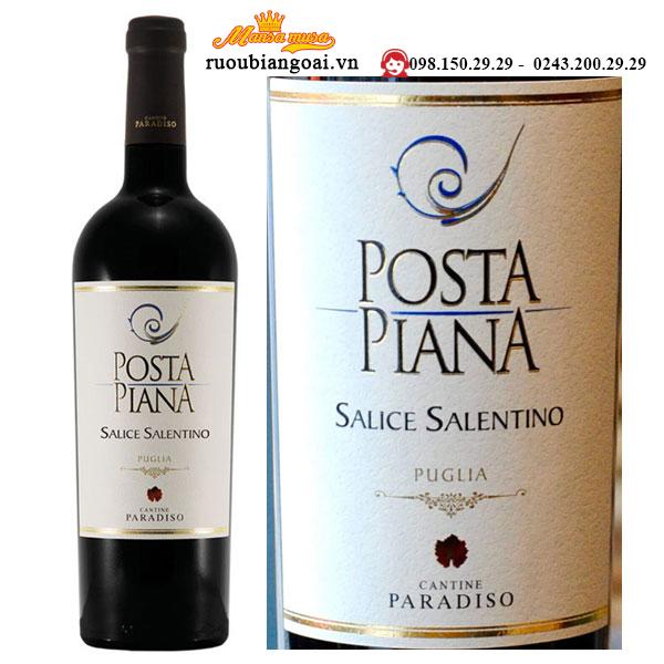 Vang Ý Posta Piana Salice Salentino Rosso Puglia