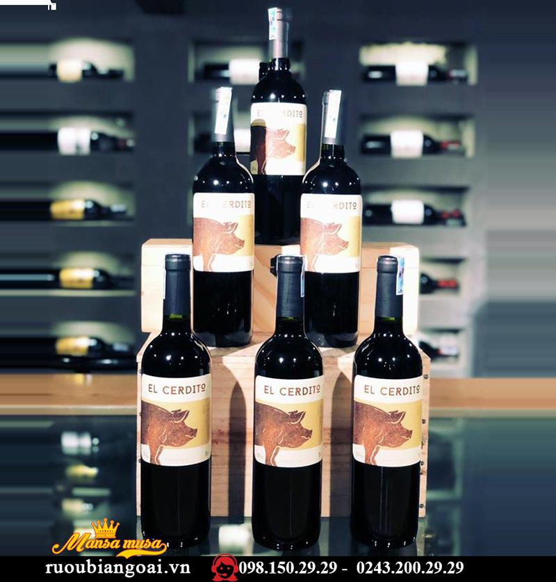 Rượu Vang Chile EL CERDITO Cabernet Sauvignon