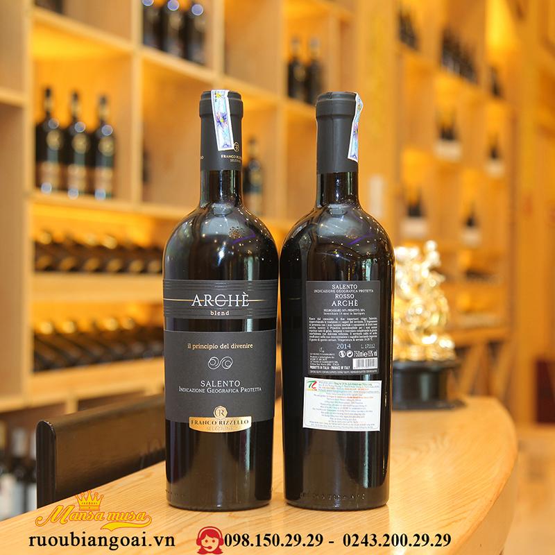 Rượu Vang Ý Arche Blend Salento