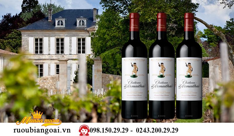 Vang Pháp Chateau d'Armailhac 5e Grand Gru Classe Pauillac 1996