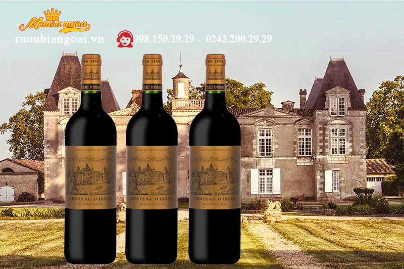 Vang Pháp Chateau D'lssan Margaux 3e Grand Gru Classe 2014