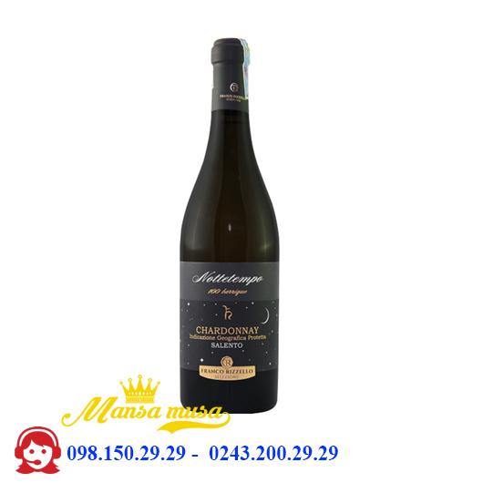 Vang Ý Nottetempo 100 Barrique Chardonnay Salento