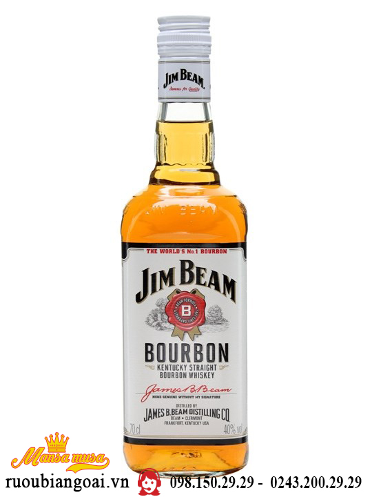 Rượu Whisky Jim Beam White
