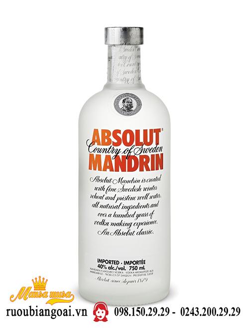 Rượu Vodka Absolute Mandrin