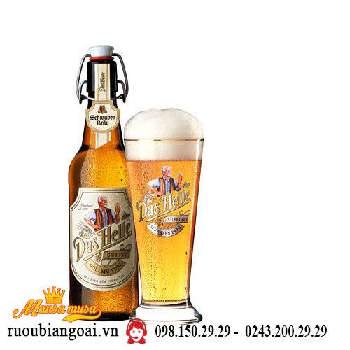 Bia Schwaben Bräu Das Helle 5% - Chai 500ml - Bia Đức