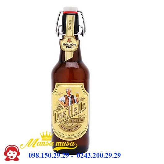Bia Schwaben Bräu Das Helle 5% – Chai 500ml