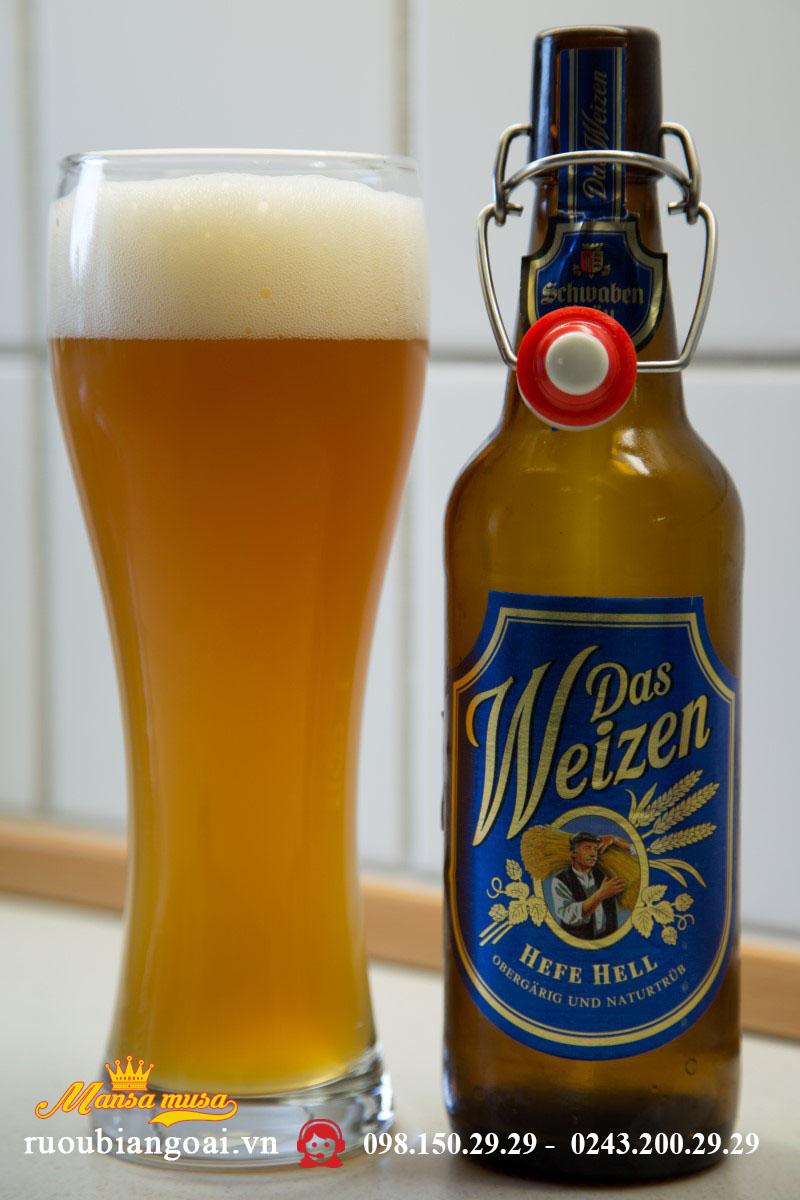 Bia Schwaben Bräu Das Weizen 5% - Chai 500ml