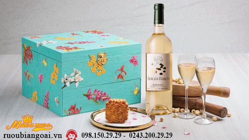 Hộp quà rượu vang tết trung thu