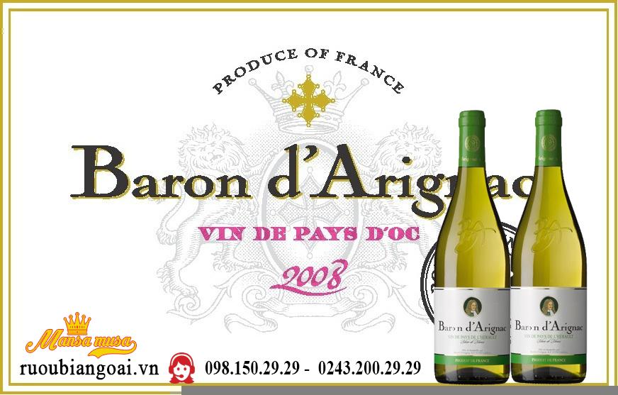Rượu Vang Pháp Baron d'Arignac