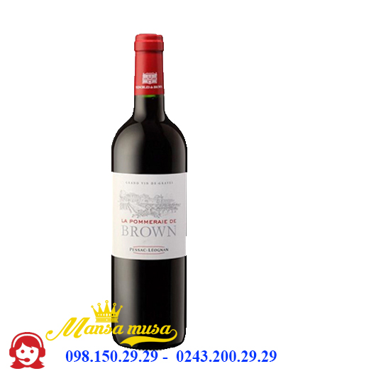 Vang Pháp La Pommeraie De Brown Red 2016