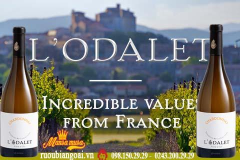 Vang Pháp L'Odalet Chardonay / Cabernet Sauvignon