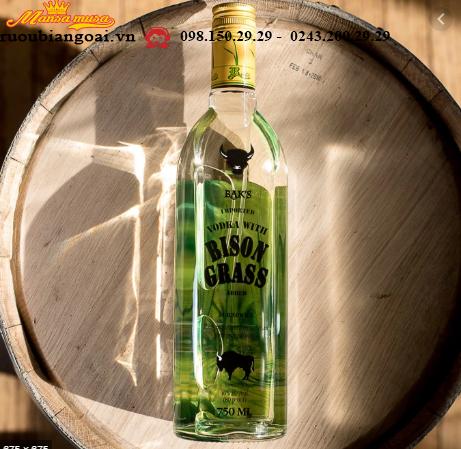 Rượu Baks Bison Grass Vodka