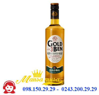Rượu Blended Scotch Whisky Gold Ben