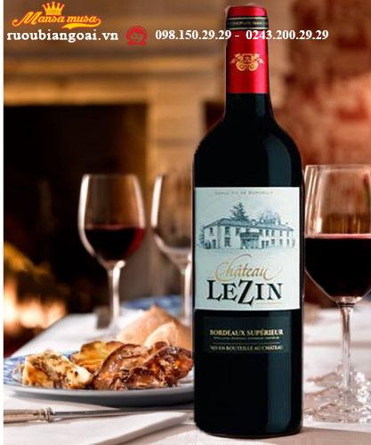 Rượu vang Château Lezin Bordeaux Supérieur 2015