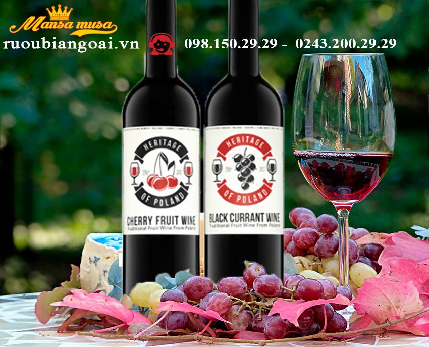 Rượu Vang Đỏ Heritage Of Poland Cherry