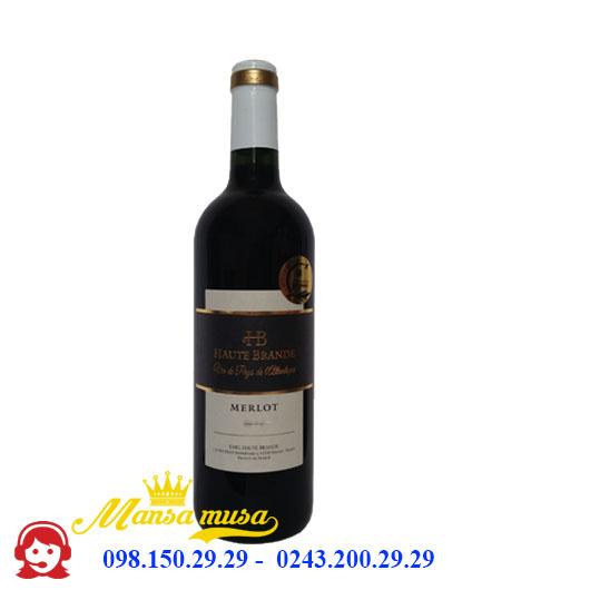 Rượu Vang Pháp Domaine Haute Brande