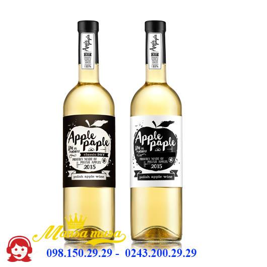 Rượu Vang Trắng Apple Paple Semi Dry