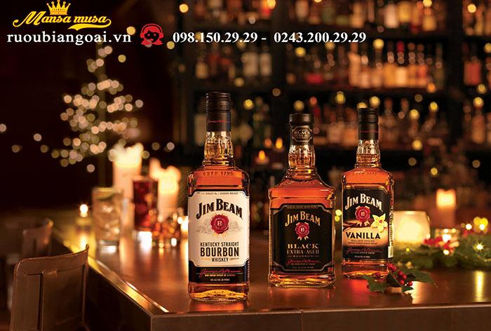 Rượu Whisky Jim Beam Black