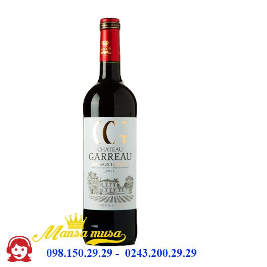 Vang Pháp Chateau Garreau Bordeaux Supérieur 2016