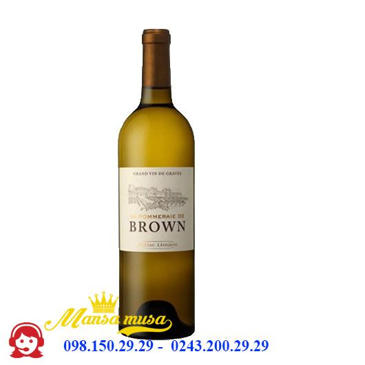 Vang Pháp La Pommeraie De Brown White 2016