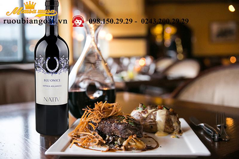 Vang Nativ Blu Onice Irpinia Aglianico - Rượu Vang Ý