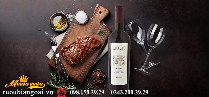 Rượu vang Cìu Cìu Piceno Bacchus - Rượu vang Ý