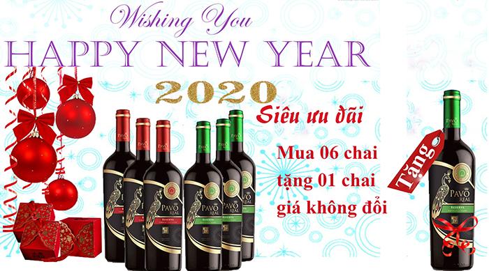 Hộp Qùa Tết 2020 Mua 6 Chai Vang Tặng 1 Chai Vang Cùng Loại