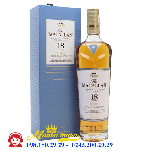 Rượu Macallan 18 Triple Cask Matured