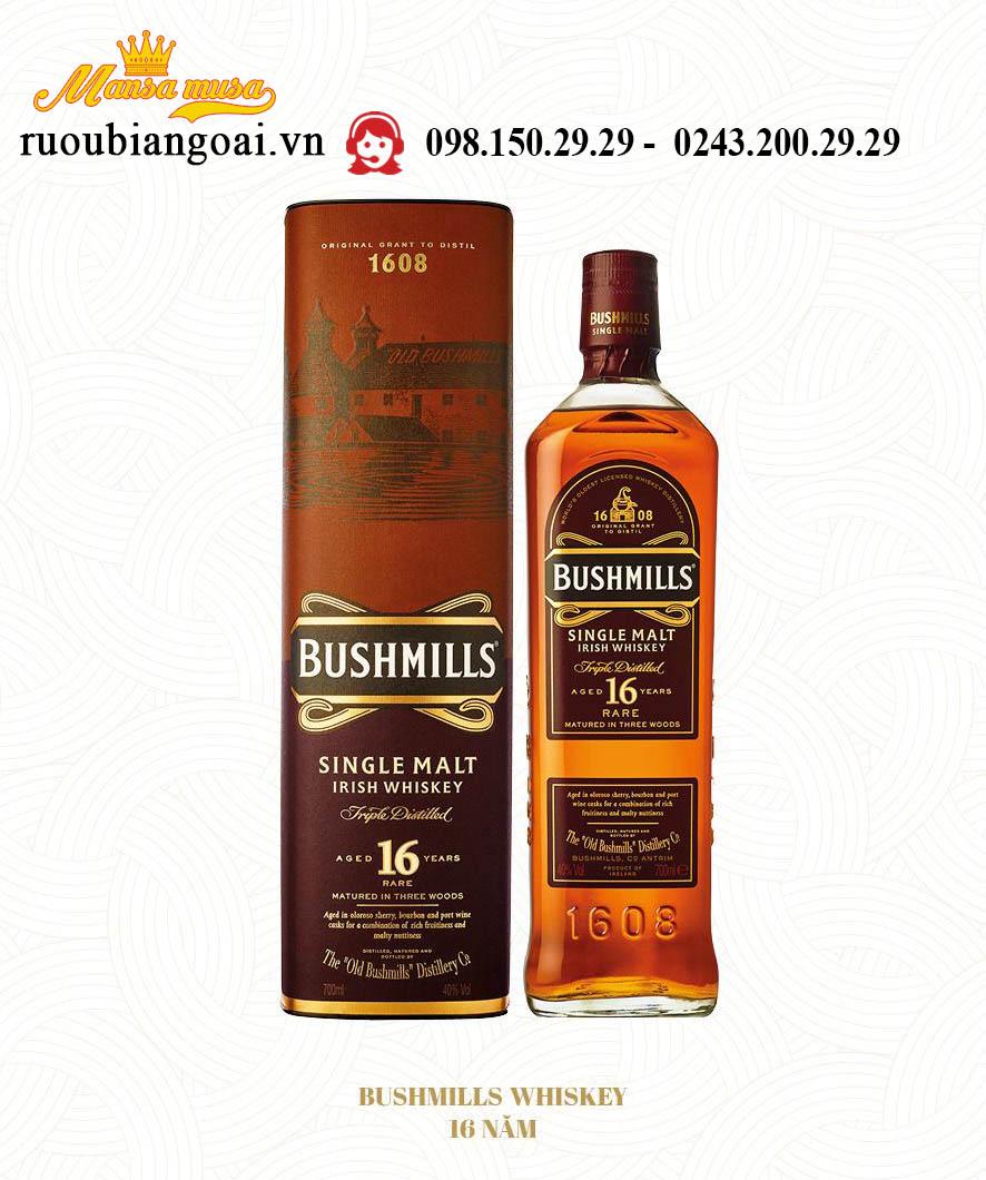 Rượu WHISKEY Bushmills 16 yo