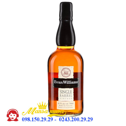 Rượu Evans Williams Kentucky Single Barrel