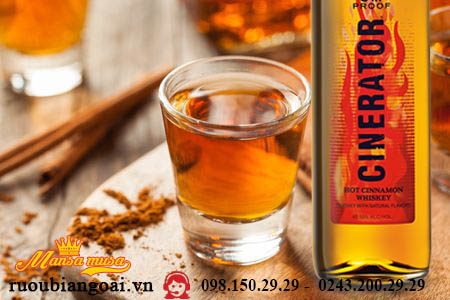 Rượu Cinerator Cinnamon Whiskey