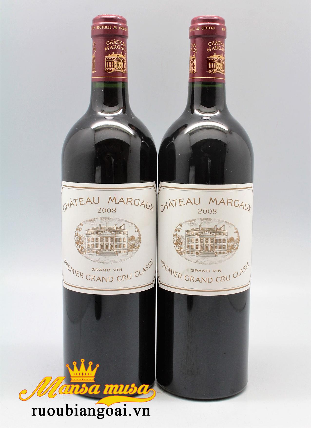 Thưởng thức rượu vang đỏ pháp Chateau Margaux 2008