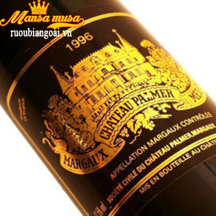 Rượu Vang Chateau Palmer Margaux 1996