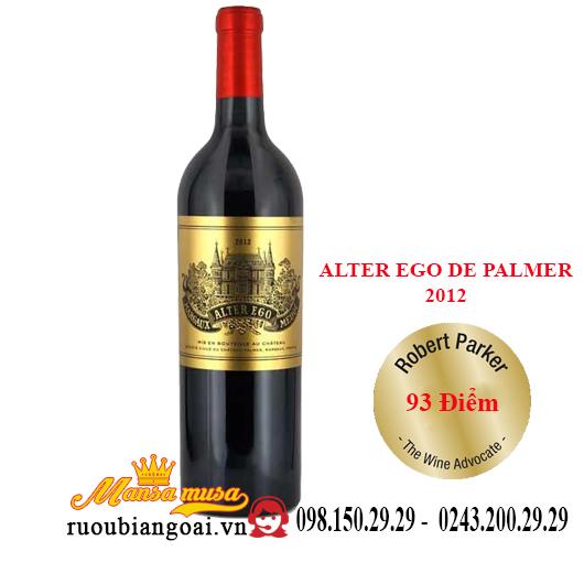 Rượu vang Pháp Alter Ego De Palmer 2012