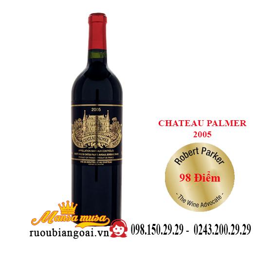Rượu vang Pháp Chateau Palmer 2005