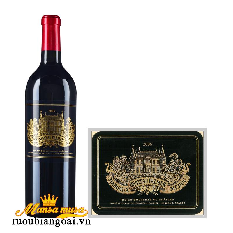 Rượu vang Pháp Chateau Palmer 2006