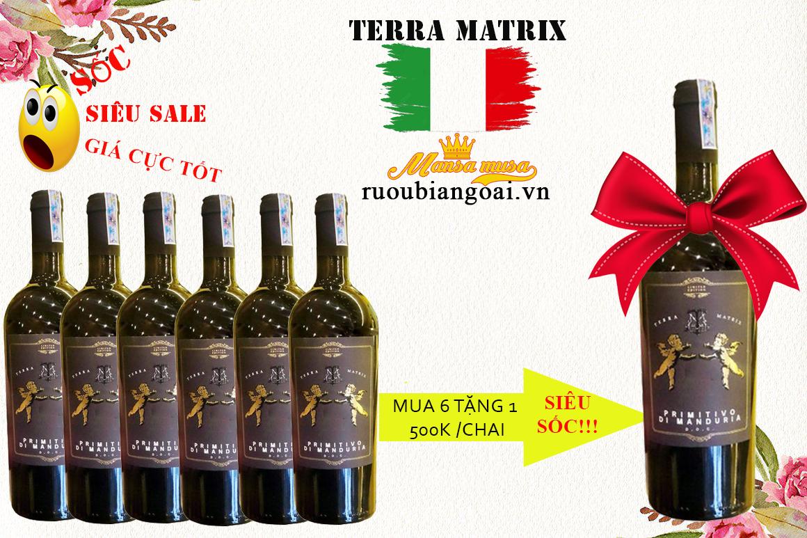 Rượu vang ý terra matrix limited edition