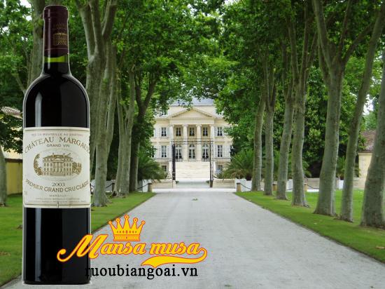 Đặc trưng vang pháp Chateau Margaux 2003